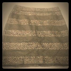 Ann Taylor Striped Sequin Mini Skirt